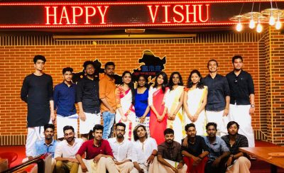 Vishu Celebration by Indian Students in the campus of Guangxi Medical University, China